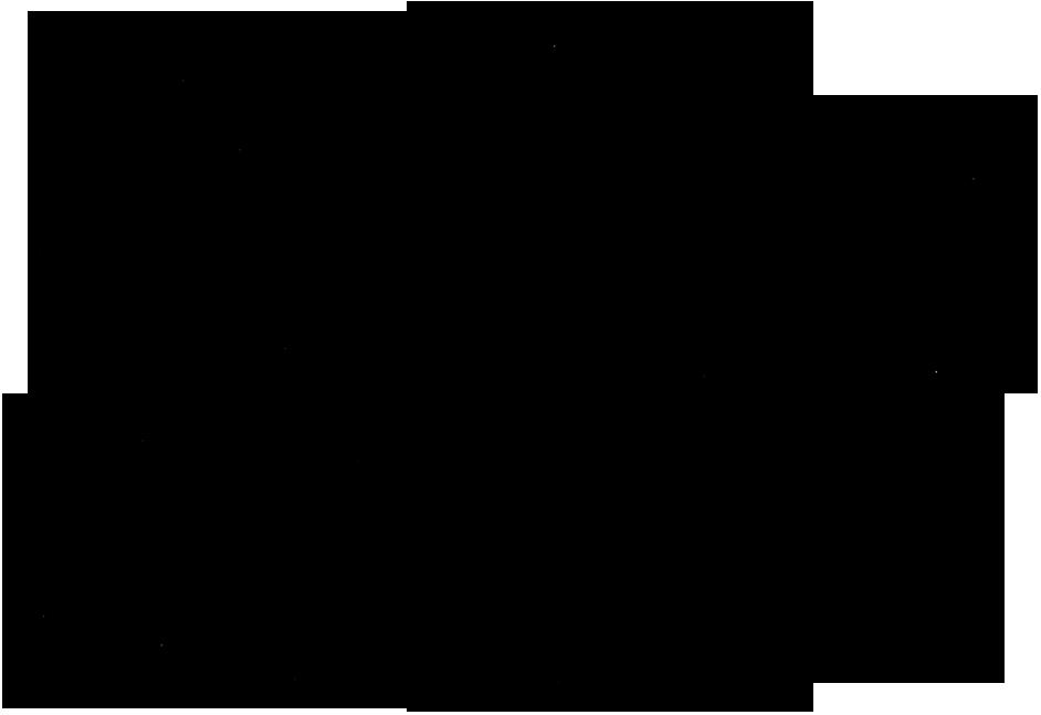 Geometričen razpored krajev, povezanih s prasilami Zemlje, v ljubljanskem prostoru.