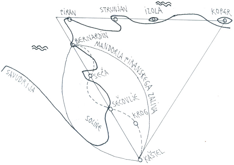 Mandorla Piranskega zaliva in trikotnik slovenske Istre